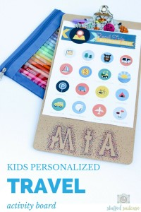 Kids Personalized Travel Activity Board